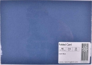 Pack of 25 Linen Texture Pre-Creased Single Fold Cards А6 Size Dark Blue