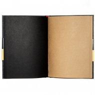 Hardcover Sketchbook with Black and Kraft Paper : 80 gsm : 96 Sheets : A5