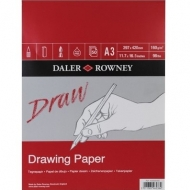 Daler Rowney Medium Grain Drawing Pad : 160 gsm : 50 sheets : А3