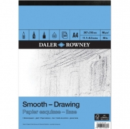 Daler Rowney Smooth Drawing Pad : 96 gsm : 50 sheets : А4