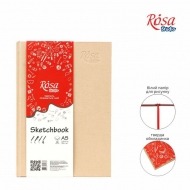 Cream Hardcover Sketchbook Rosa : 100 gsm : 96 Sheets : A5