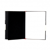 Hardcover Sketchbook with Ivory, White and Black Paper : 80 gsm : 96 Sheets : A5