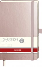 Dotted Notebook Kompagnon : Rose Gold :  80 gsm : 96 sheets : 12.5 x 19.5 cm