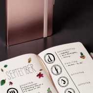 Dotted Notebook Kompagnon : Rose Gold : 80 gsm : 96 sheets : 9.5 x 12.8 cm
