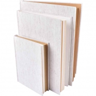 Hardcover Sketchbook with White and Kraft Paper : 100 gsm : 94 Sheets : B5