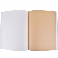 Hardcover Sketchbook with White and Kraft Paper : 100 gsm : 94 Sheets : A4