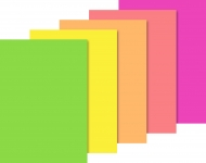 Neon Paper Pad : 100 and 200 gsm : 10 sheets : А4