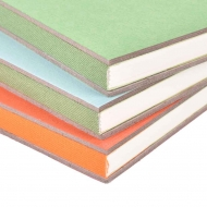 Lime Hardbound Sketchbook with Elastic Band Cuncui : 80 gsm : 80 Sheets : A5