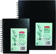 Wirebound Hardback Sketchbook Derwent Big Book : 110 gsm : 86 Sheets : A5