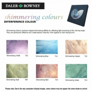 Daler Rowney Interference Acrylic Medium Shimmering : 75 ml : Blue