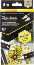 Spectrum Noir Classique Alcohol Marker : Set of 6 : Yellows