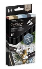 Spectrum Noir Classique Alcohol Marker : Set of 6 : Shade and Tone