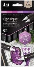 Spectrum Noir Classique Alcohol Marker : Set of 6 : Purples
