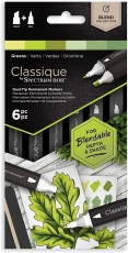 Spectrum Noir Classique Alcohol Marker : Set of 6 : Greens