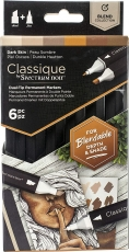 Spectrum Noir Classique Alcohol Marker : Set of 6 : Dark Skin