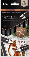 Spectrum Noir Classique Alcohol Marker : Set of 6 : Browns