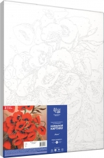 Rosa Paint by Numbers Acrylic Kit : Vase with Poppies