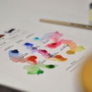 Watercolour Paint Pan 2.5 ml Rosa Gallery : Titanium White