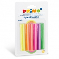Kids Modeling Clay : Primo : Pack of 6 Neon Colours