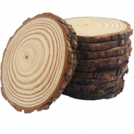 Round Natural Wood Log Slice : Ø 19-21 cm