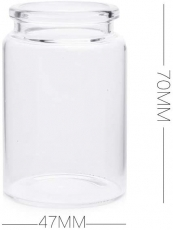 Small Glass Jar with Cork Stopper : 70 x 47 mm : 80 ml