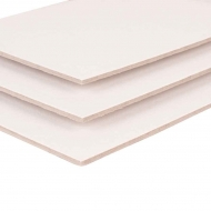 Primed Grey Board Panel Rosa Studio : Pack of 5 : 10 x 10 cm