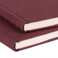 Watercolour Hardback Sketchbook : Red Covers : 200 gsm : 25% Cotton : 36 Sheets : A5