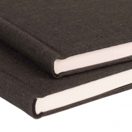 Watercolour Hardback Sketchbook : Black Covers : 200 gsm : 25% Cotton : 36 Sheets : A5