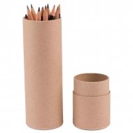 Round Tube Kraft Paper Box : Diameter 48 mm : Length 21 cm