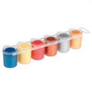 Ready-mix Poster Paint : 25 ml : Set of 6 Colours : Metallic