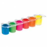 Ready-mix Poster Paint : 25 ml : Set of 6 Colours : Fluo