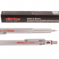 Rotring 600 Silver : Mechanical Pencil : for Leads 0.5 mm