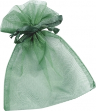 Organza Drawstring Bag : 10 x 18 cm : Green
