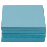 Coloured Paper Memo Block : 130 gsm : 200 Sheets : 8 x 8 cm : Aqua Blue