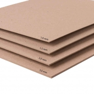 Recycled Kraft Board : 3.0 mm Thick : 1500 gsm : 50 x 70 cm