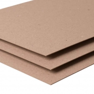 Recycled Kraft Board : 1.0 mm Thick : 500 gsm : 100 x 70 cm