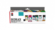 High Gloss Acrylic Paint : Marabu Decorlack : Set of 6 x 15 ml