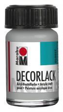 High Gloss Acrylic Paint : Marabu Decorlack : 782 Silver