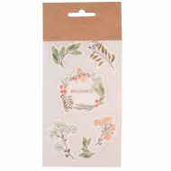 Scrapbook Stickers : 10 x 17 cm : Set of 3 Sheets : Flowers