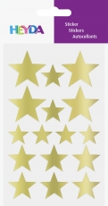 Heyda : Pack of 64 Star Shape Stickers : Gold