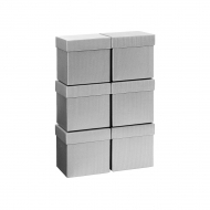 Stewo : Plain Colour Cube Gift Box : 10 cm : Silver