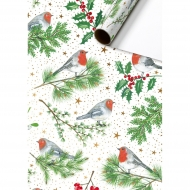Christmas Roll Wrapping Paper : Stewo : 70 cm x 2 m : Robin