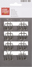 Wire Binder Clip : Knorr Prandell : Pack of 8 : 19 mm : Silver