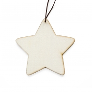 Wooden Scrapbook Embellishment : Star : 80 cm : Pack of 3