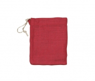Red Jute Drawstring Bag Knorr Prandell 20 x 15 cm