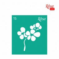 Reusable Self-Adhesive Stencil Rosa 9 x 10 cm : Flower : 15