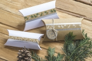 Set of 5 Christmas Deco Tapes : Heyda : Nature : Silver/White