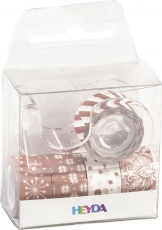 Set of 5 Deco Tapes : Heyda : Mini : Copper