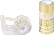 Set of 5 Christmas Deco Tapes : Heyda : Mini : Shiny Gold