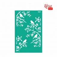 Rosa stencil 13*20 cm Background Animals No.1501 B